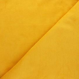 Tissu velours jersey milleraies  - jaune moutarde x 10cm