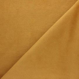 Tissu velours jersey milleraies  - ocre x 10cm