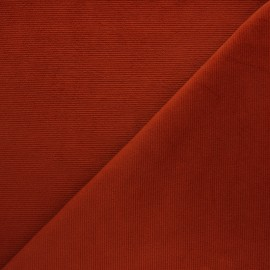 Milleraies velvet jersey fabric - red brick x 10cm