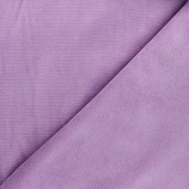 Tissu velours jersey milleraies  - lilas x 10cm