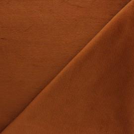 Tissu velours jersey milleraies  - camel x 10cm