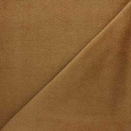 Milleraies velvet jersey fabric - light camel x 10cm