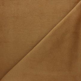 Tissu velours jersey milleraies  - camel clair x 10cm