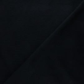 Milleraies velvet jersey fabric - black x 10cm