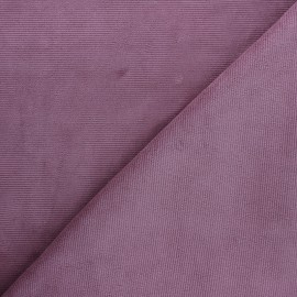 Milleraies velvet jersey fabric - fig x 10cm