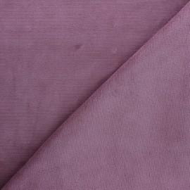 Tissu velours jersey milleraies  - figue x 10cm