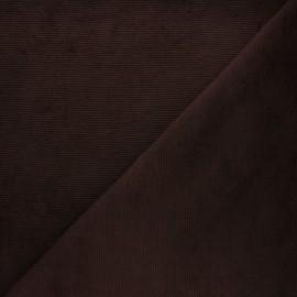 Tissu velours jersey milleraies  - marron x 10cm