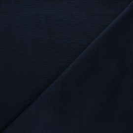 Milleraies velvet jersey fabric - night blue x 10cm