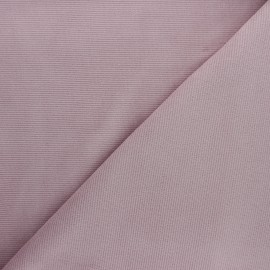 Tissu velours jersey milleraies  - vieux rose x 10cm