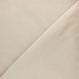 Tissu velours jersey milleraies  - beige x 10cm