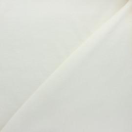 Tissu velours jersey milleraies  - écru x 10cm