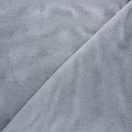 Milleraies velvet jersey fabric - mouse grey x 10cm