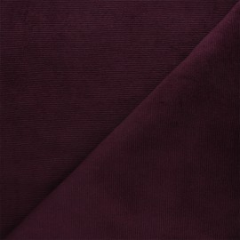 Milleraies velvet jersey fabric - purple x 10cm