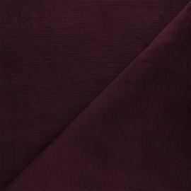 Tissu velours jersey milleraies  - violet x 10cm