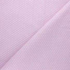 Cretonne cotton fabric - light pink Ptitcoeur x 10cm