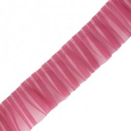 Galon plissé organza 6 cm -  bois de rose x 1m