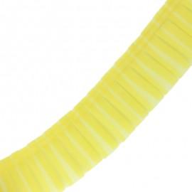 Galon plissé organza 6 cm - jaune x 1m