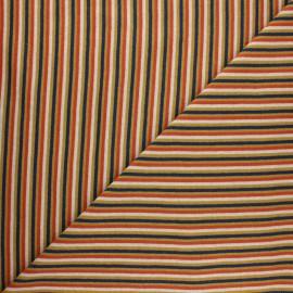 Tubular jersey fabric - yellow mustard Stripes x 10cm