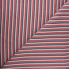 Jersey tubulaire Stripes - rouge x 10cm