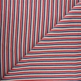 Tubular jersey fabric - red Stripes x 10cm
