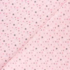 Cretonne cotton fabric - light pink Syrma x 10cm
