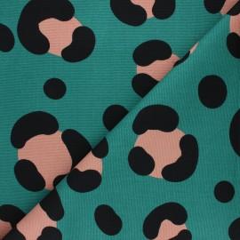 Tissu toile de coton Rico Design Acid leo - pétrole x 10cm