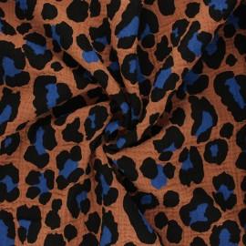 Tissu double gaze de coton Rico Design Acid leo - cannelle x 10cm