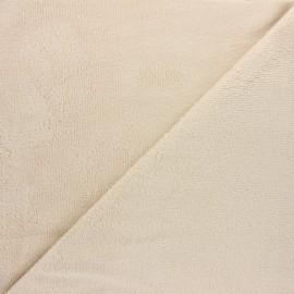 Tissu micro-éponge bambou Soft - beige x 10cm