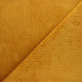 Tissu micro-éponge bambou Soft - jaune curry x 10cm