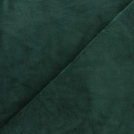 Tissu micro-éponge bambou Soft - vert pin x 10cm