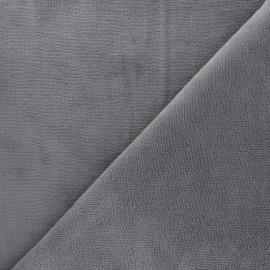 Tissu micro-éponge bambou Soft - gris souris x 10cm