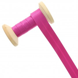 20 mm Satin Bias Binding Roll - Indian Pink