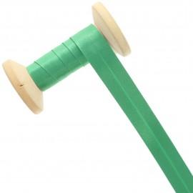 Biais Satin 20 mm - vert impérial - Bobine de 25 m