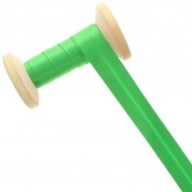 20 mm Satin Bias Binding Roll - Meadow Green