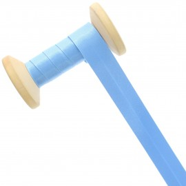20 mm Satin Bias Binding Roll - Sky Blue