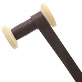 Biais Satin 20 mm - chocolat - Bobine de 25 m