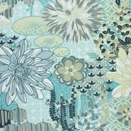 Coated cretonne cotton fabric - celadon Palazzo x 10cm
