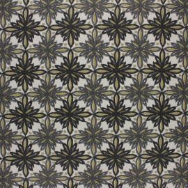 Coated cretonne cotton fabric - grey Vecchio x 10cm