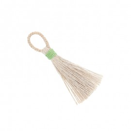 90mm jute pompom - apple green