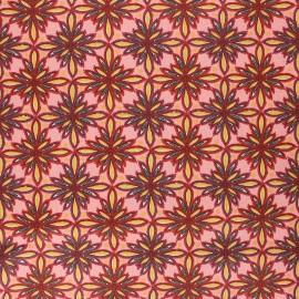 Coated cretonne cotton fabric - pink Vecchio x 10cm