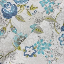 Tissu polycoton enduit mat Irina - grège x 10cm