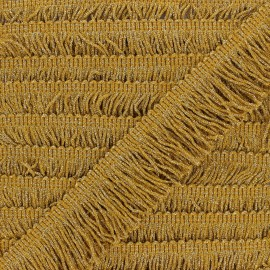 60 mm Fringe Trimmings - mustard yellow/gold Eleganza x 1m