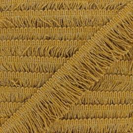 Galon à franges Eleganza 60 mm - moutarde/doré x 1m