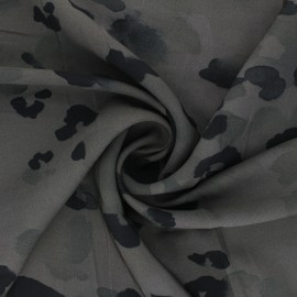 Viscose twill fabric - khaki green Ink stains x 10cm