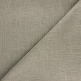 Plain ramie fabric - light taupe x 10cm