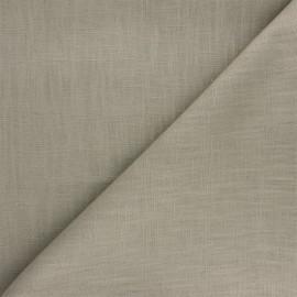 Tissu ramie uni - taupe clair x 10cm