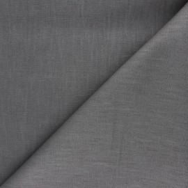 Plain ramie fabric - grey taupe x 10cm