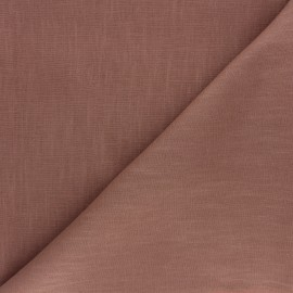 Plain ramie fabric - hazelnut x 10cm