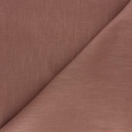 Tissu ramie uni - noisette x 10cm