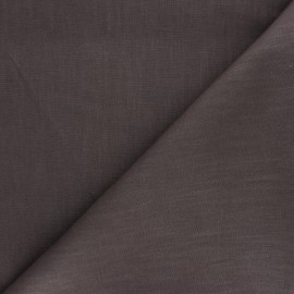 Plain ramie fabric - chestnut x 10cm